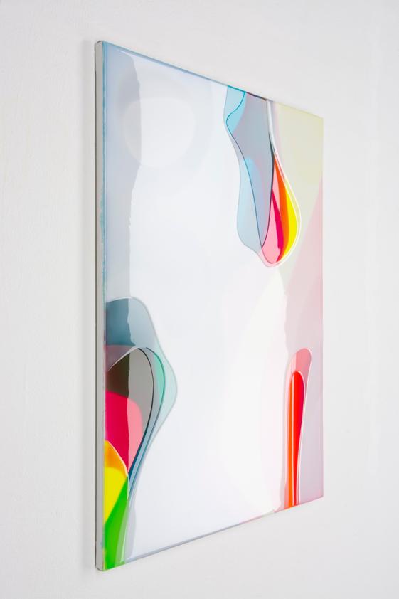 Peter Zimmermann – tonga, 2016, 80 x 60 cm, Epoxidharz auf Leinwand