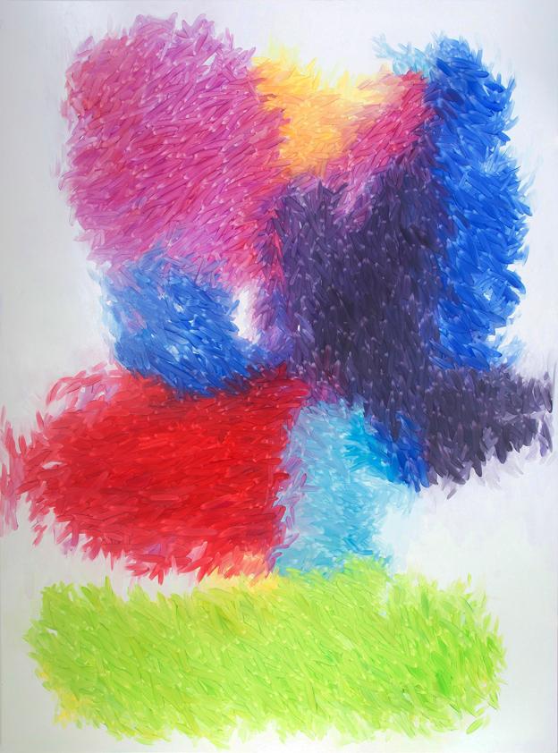 Peter Zimmermann – Heu, 2015, 320 x 230 cm, oil on canvas