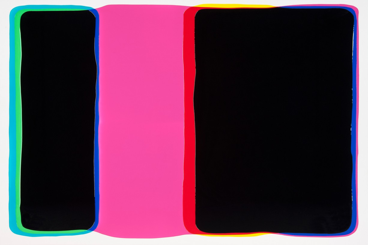Peter Zimmermann – hood, 2015, 200 x 300 cm, epoxy resin on canvas