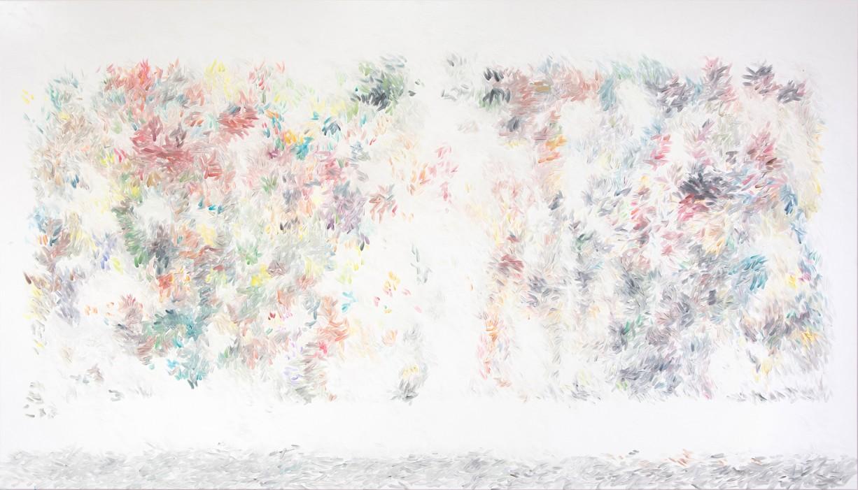 Peter Zimmermann – Schnee, 2015, 200 x 350 cm, oil on canvas