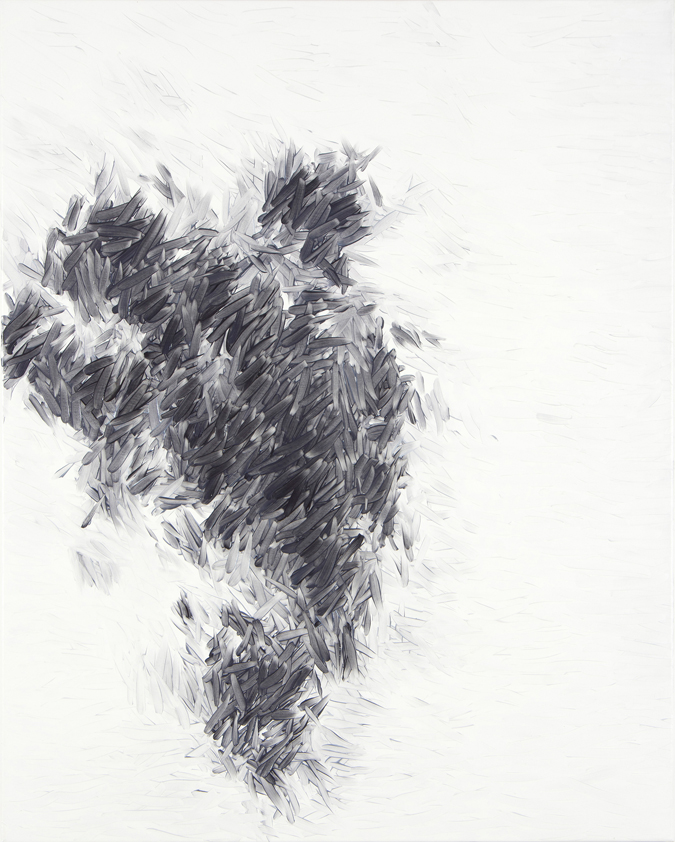 Peter Zimmermann – shag, 2015, 100 x 80 cm, oil on canvas