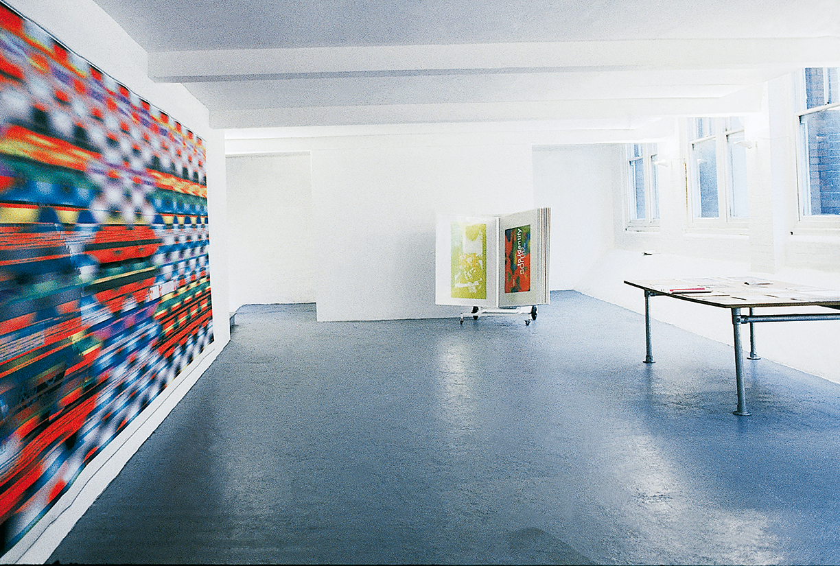 Peter Zimmermann – Remixes, 1995, The Agency, London (installation view)