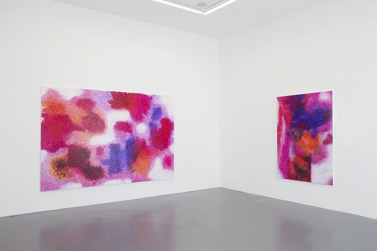Peter Zimmermann – sur le motif, 2014, Galerie Perrotin, Paris (installation view)