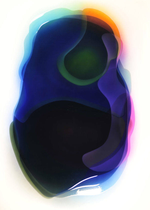 Peter Zimmermann – Sandysea P., 2010, 200 x 145 cm, Airbrush / epoxy resin on canvas