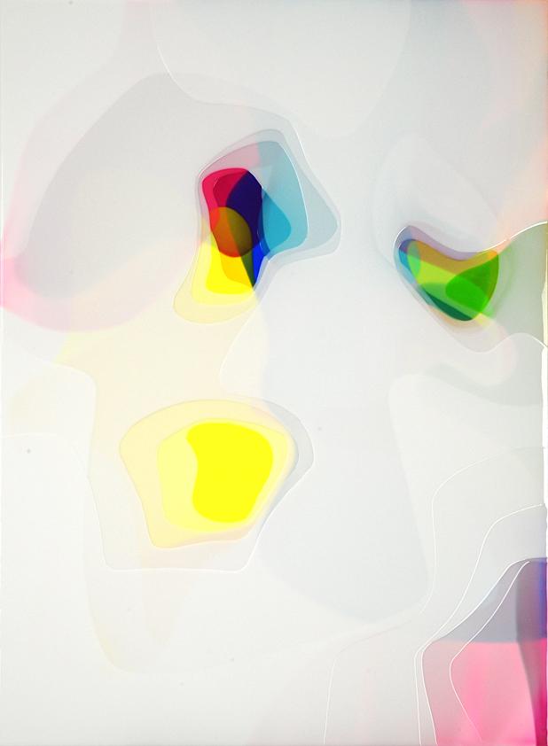 Peter Zimmermann – 4leaves, 2018, 150 x 110, Epoxidharz auf Leinwand