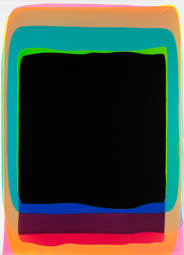 Peter Zimmermann – black gate, 2017, 180 x 130 cm, Epoxid auf Leinwand