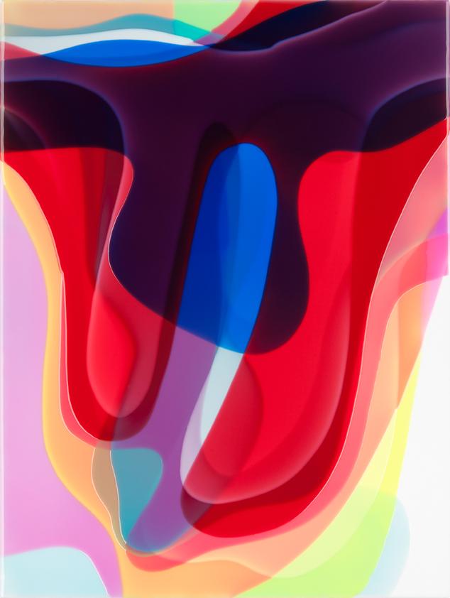 Peter Zimmermann – boa, 2017, 80 x 60 cm, Epoxid auf Leinwand
