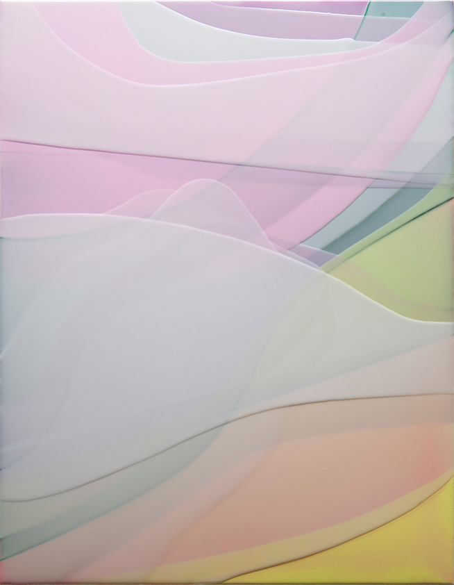 Peter Zimmermann – fume, 2017, 90 x 70 cm, Epoxidharz auf Leinwand