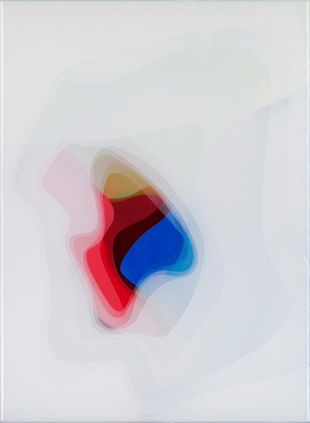 Peter Zimmermann – java, 2017 150 x 110 cm, Epoxidharz auf Leinwand
