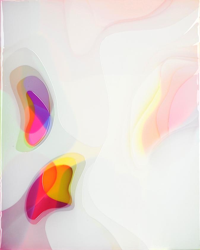 Peter Zimmermann – lostfound, 2018, 100 x 80 cm, Epoxidharz auf Leinwand