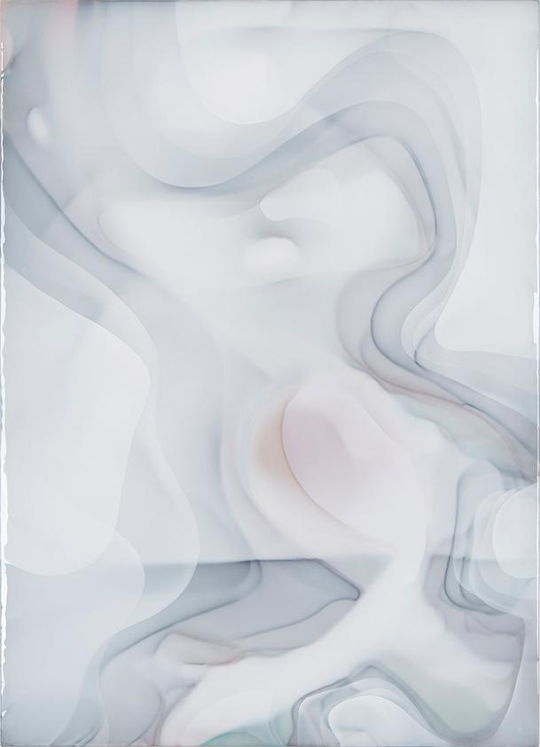Peter Zimmermann – milk1, 2017, 180 x 130 cm, Epoxidharz auf Leinwand