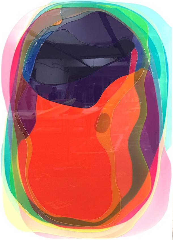 Peter Zimmermann – plateau, 2017, 200 x 145 cm, Epoxid auf Leinwand