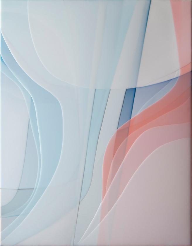 Peter Zimmermann – sting, 2017, 90 x 70 cm, Epoxydharz auf Leinwand