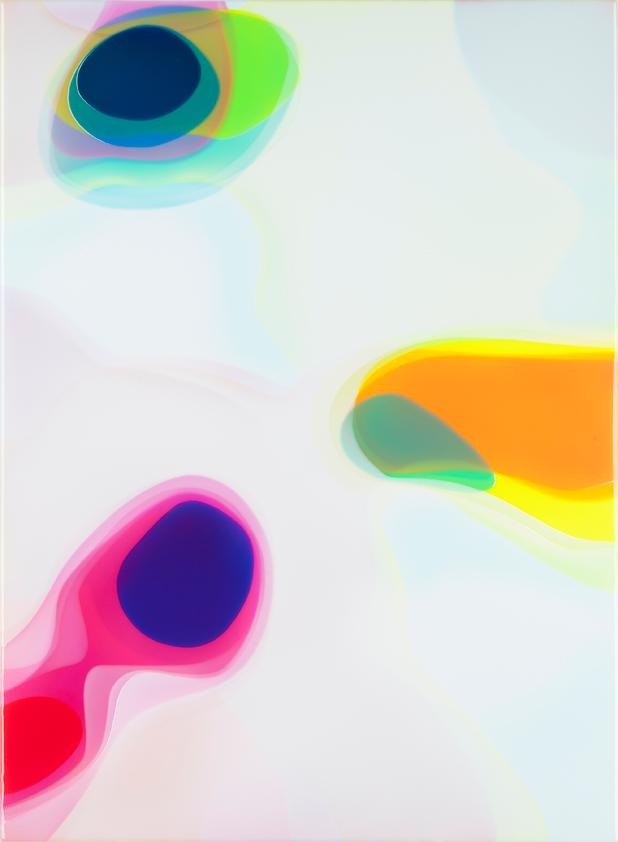 Peter Zimmermann – ovo, 2016, 150 x 110 cm, epoxy resin on canvas
