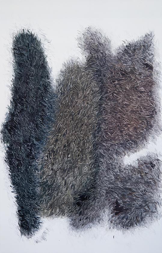 Peter Zimmermann – 2018, 250 x 160 cm, oil on forex