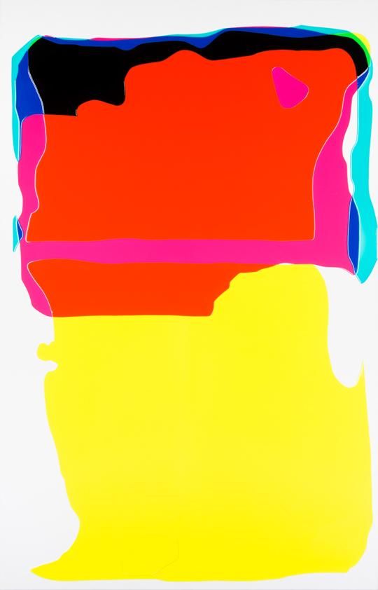 Peter Zimmermann – cut, 2016, 250 x 160cm, epoxy resin on canvas