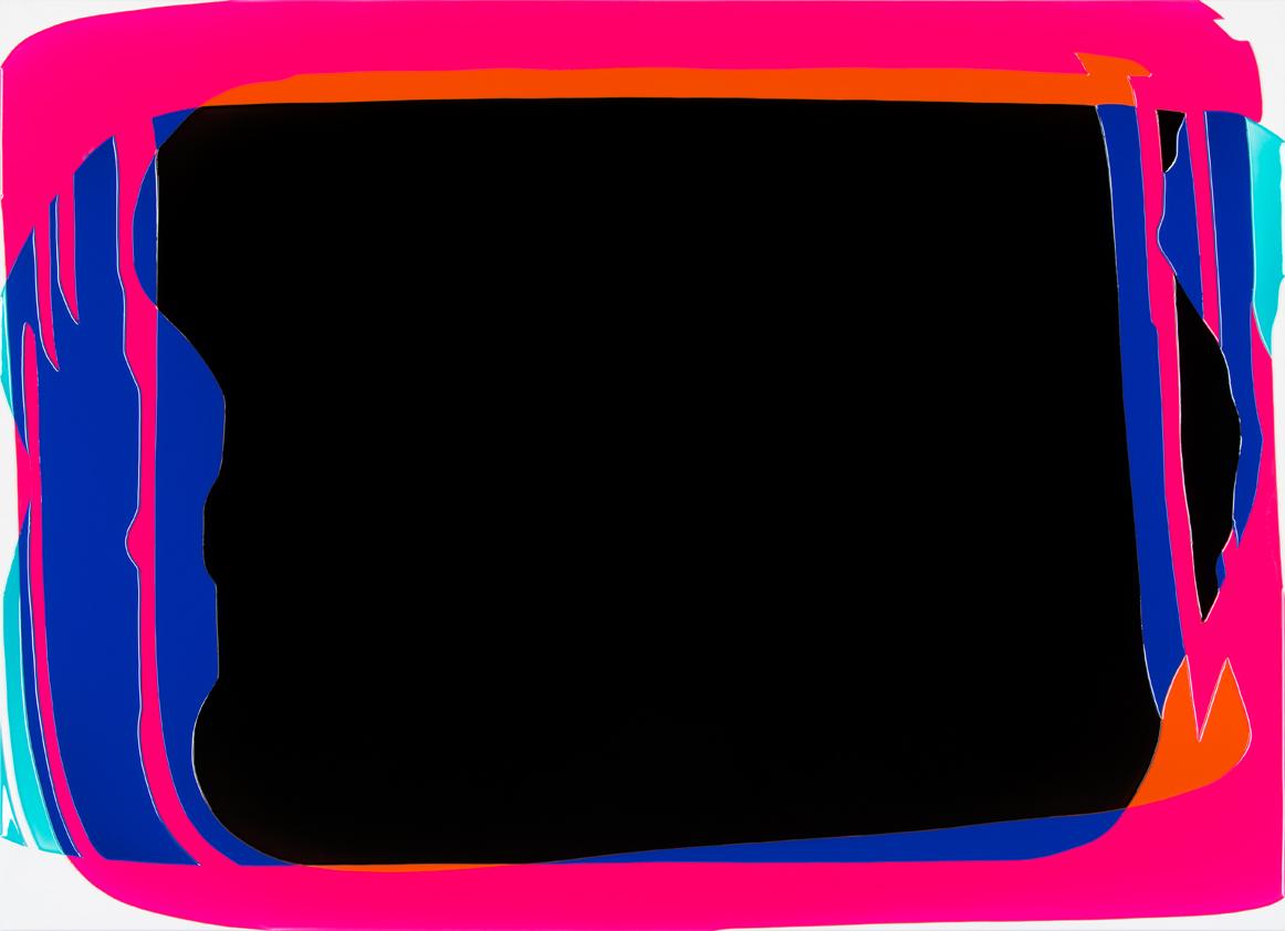 Peter Zimmermann – screen, 2016, 145 x 200 cm, epoxy resin on canvas