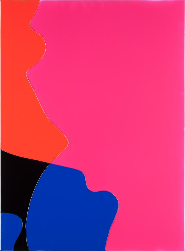 Peter Zimmermann – crossing, 2015, 150 x 110 cm, epoxy resin on canvas