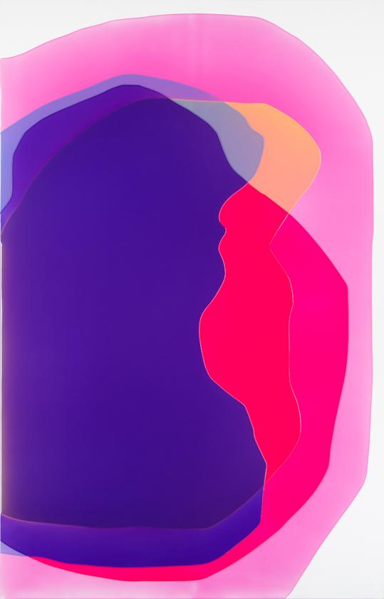 Peter Zimmermann – rip, 2016, 250 x 160 cm, epoxy resin on canvas