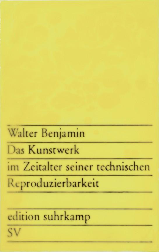 Peter Zimmermann – D.K.i.Z.s.t.R., 1984, 80 x 40 cm, epoxy resin on canvas