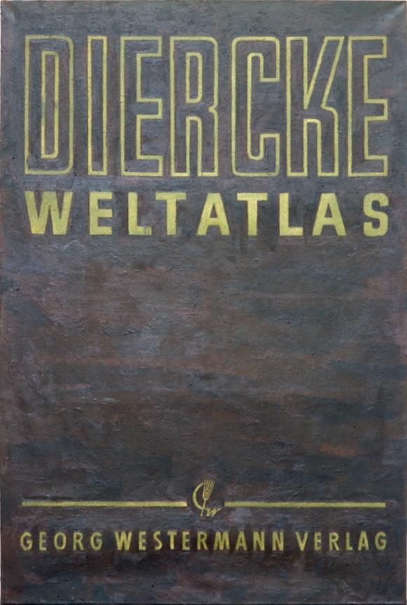Peter Zimmermann – Diercke Weltatlas,  1987, 300 x 200 cm,  oil on canvas