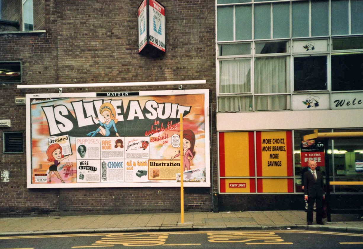 Peter Zimmermann – Like a suit, Liverpool Biennial, 1994