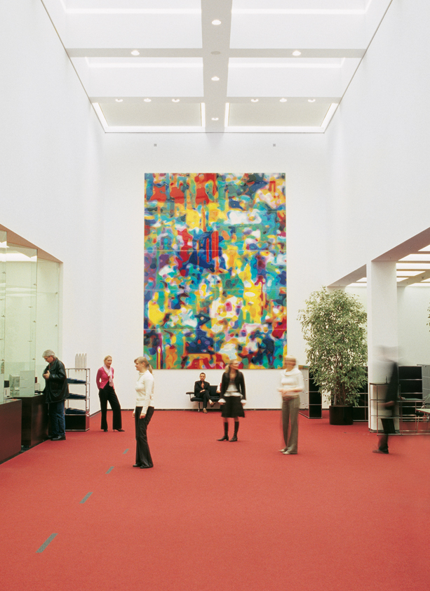Peter Zimmermann – M.A.P., 2006,  700 x 500 cm, epoxy resin on alucobond,  Sparkasse Münster