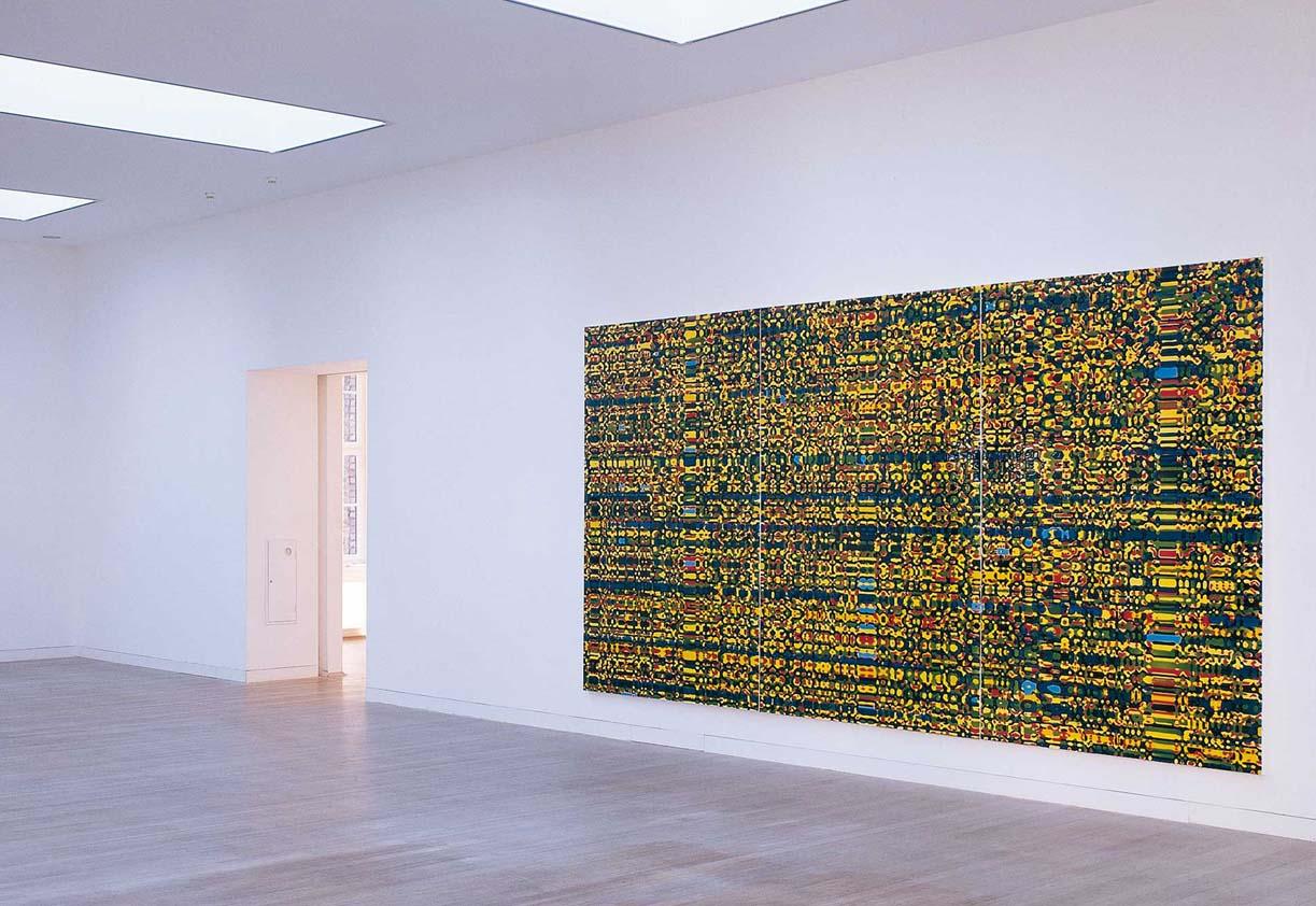 Peter Zimmermann – limes 2, 2004 241 x 600 cm, Epoxid auf Leinwand (Installationsansicht)