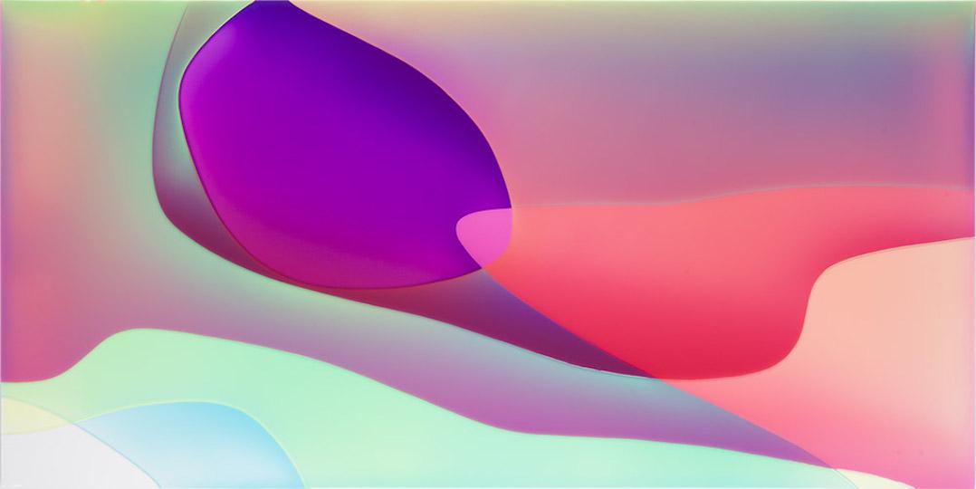 Peter Zimmermann – delphi, 2020, 100 x 200 cm, epoxy resin on canvas