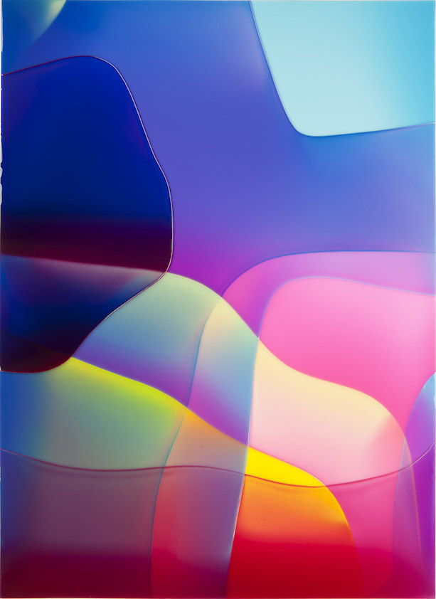 Peter Zimmermann – o.T., 2020, epoxy resin on canvas, 100 x 80 cm