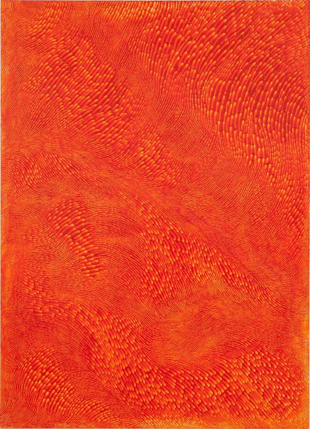 Peter Zimmermann – cantaloupe, 2020, oil on dibond, 180 x 130 cm