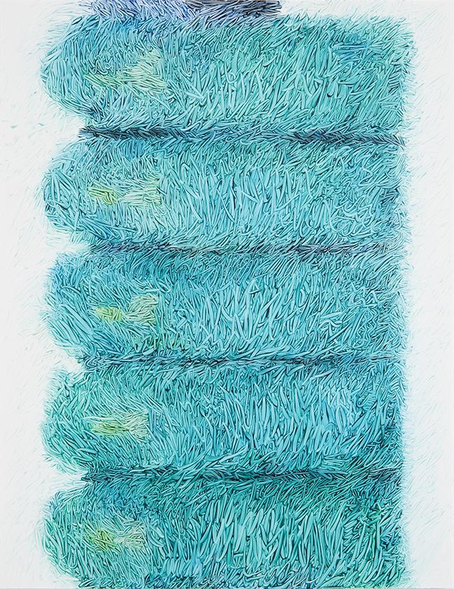 Peter Zimmermann – chain, 201, 65 x 50 cm, oil on forex