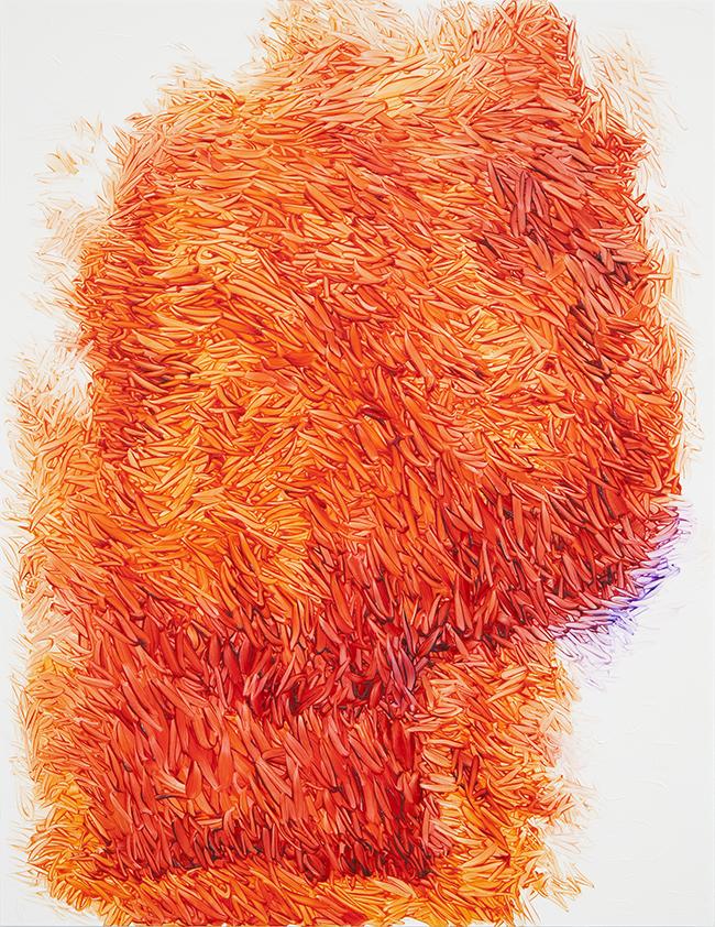 Peter Zimmermann – day glow, 2018, 65 x 50 cm, oil on forex
