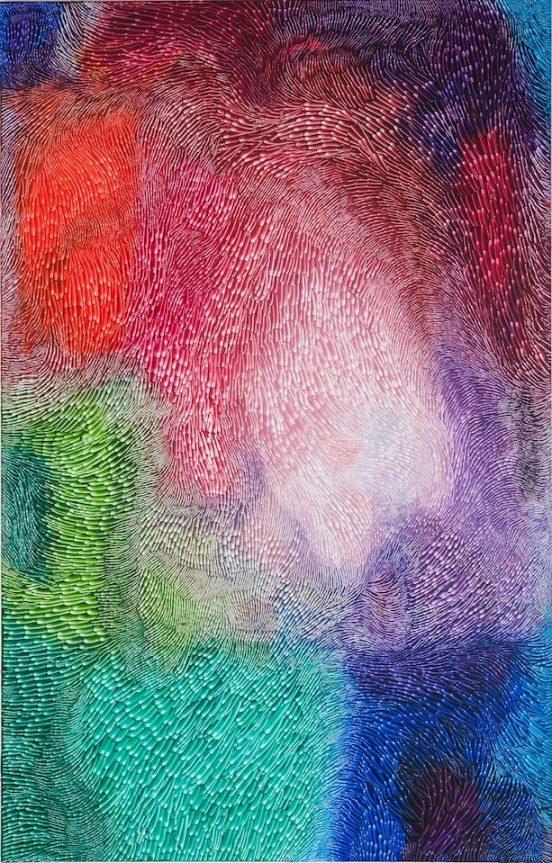 Peter Zimmermann – montana, 2020, oil on dibond, 250 x 160 cm