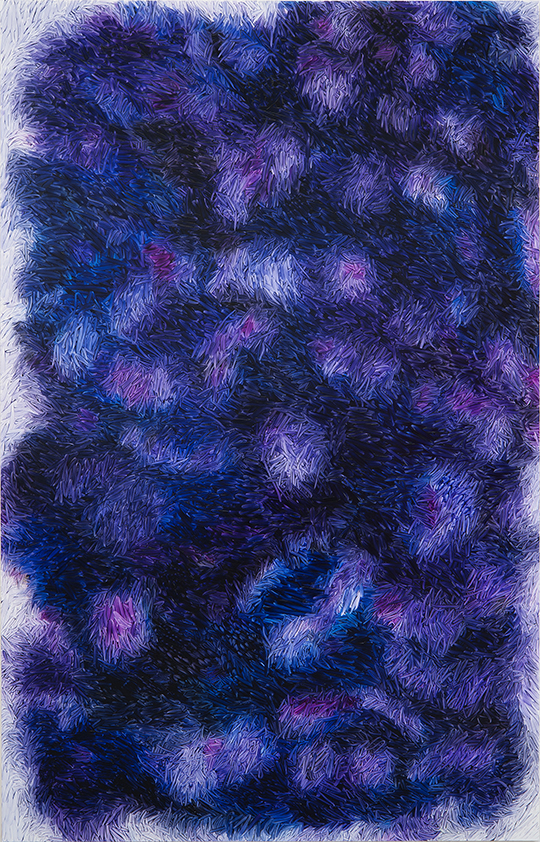 Peter Zimmermann – fur, 2019, 250 x 160 cm, oil on forex