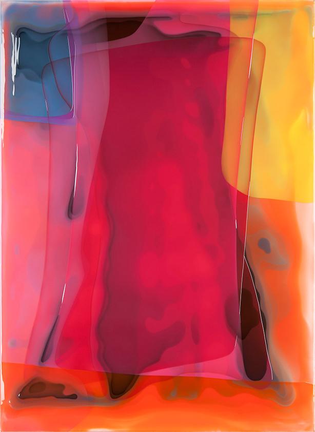 Peter Zimmermann – swell, 2017, 200 x 145, Epoxidharz auf Leinwand