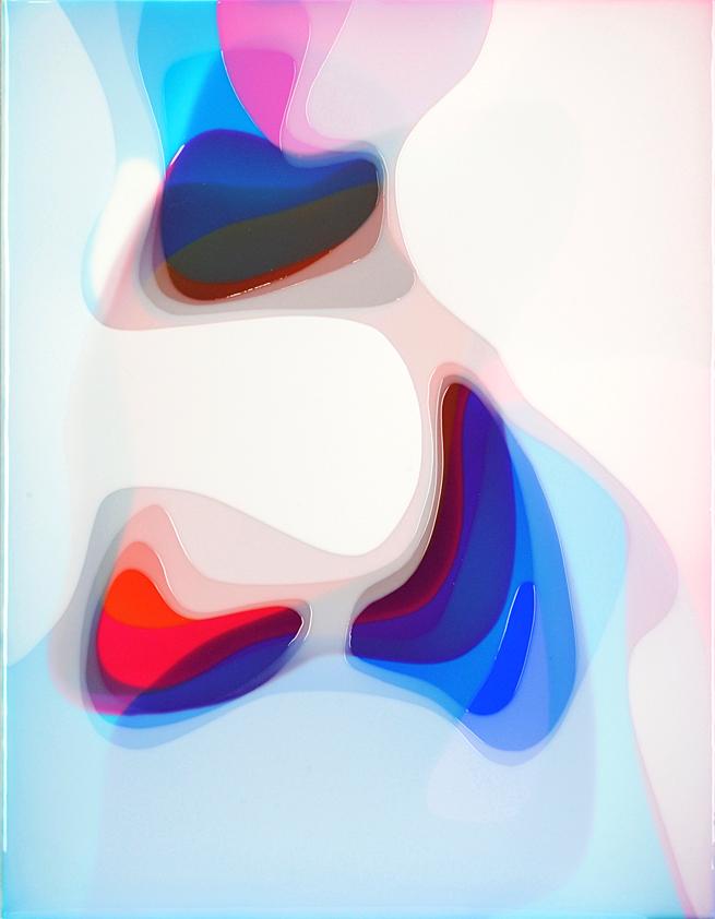 Peter Zimmermann – tulips, 2018, 90 x 70, epoxy resin on canvas